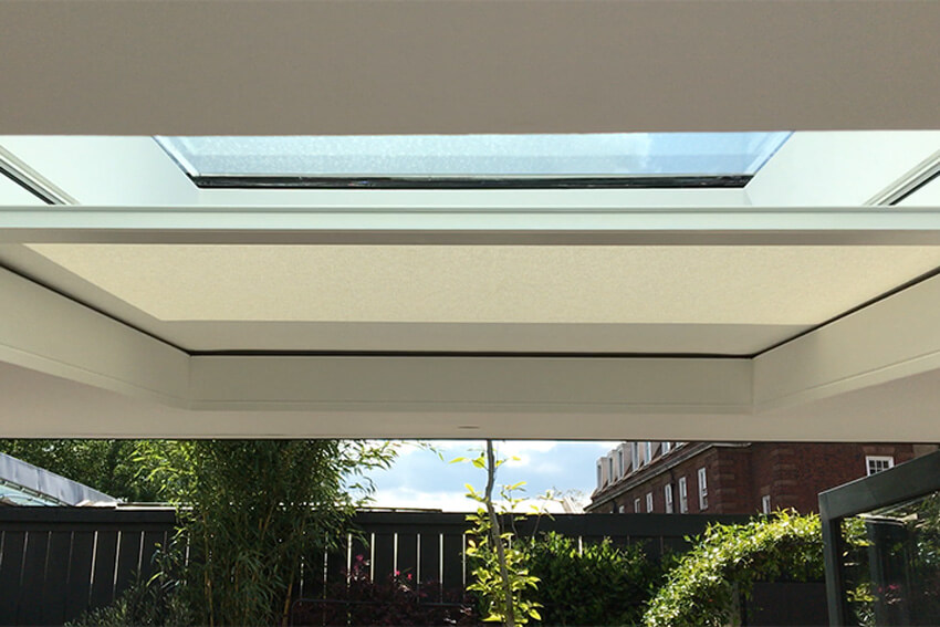 Concealed skylight blind