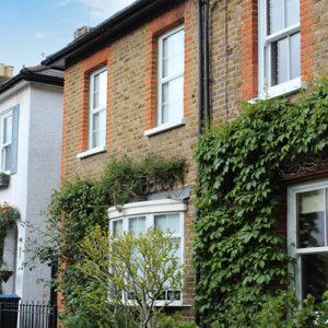 Houses with blinds in Surbiton, Surrey